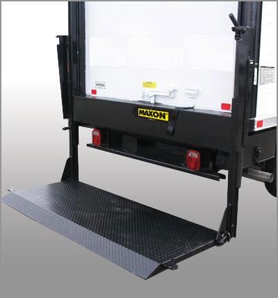 Maxon liftgates for box trucks at oklahoma upfitters