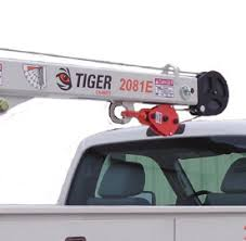 Tiger cranes installed on a service body