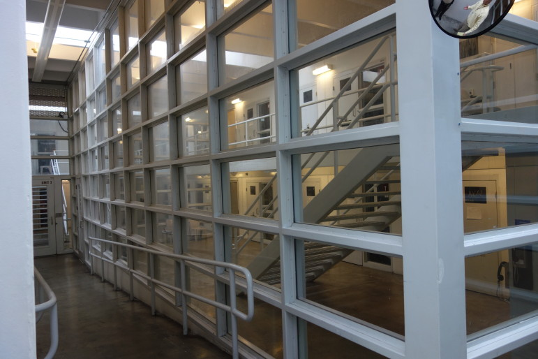 The isolation area in the Tulsa County jail.