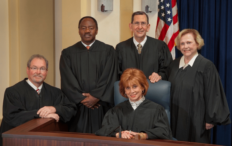 The Oklahoma Court of Criminal Appeals, the court of last resort for criminal cases, includes (from left) Justices Robert Hudson, David Lewis, Gary Lumpkin, Clancy Smith and Arlene Johnson.