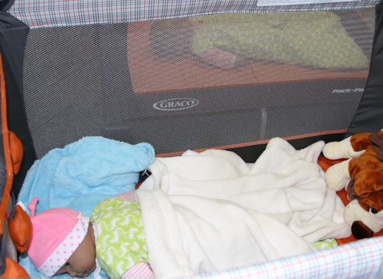 Safe-sleeping dolls at the Oklahoma City-County Health Department