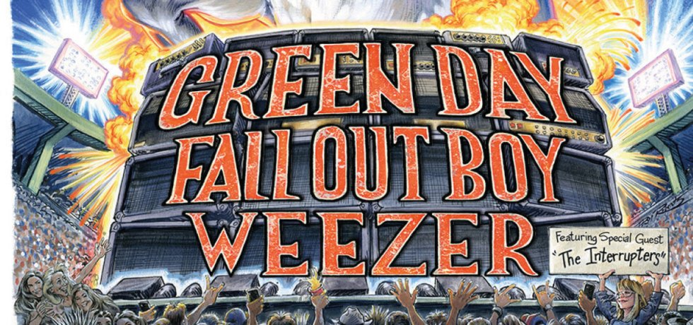 Green Day, Weezer e Fall Out Boy adiam shows na Europa
