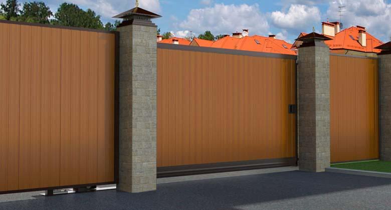 Откатные уличные ворота DoorHan в алюминиевом профиле