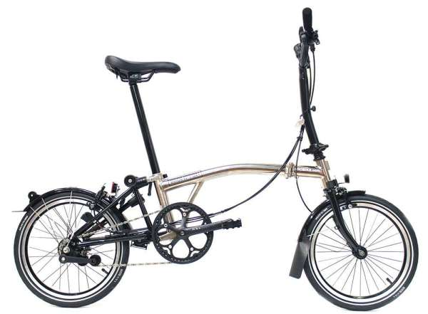 bicicleta plegable brompton nickel edition
