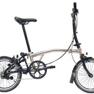 bicicleta plegable brompton nickel edition