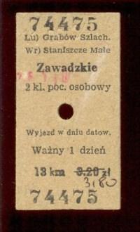 bilet do Zawadzkiego