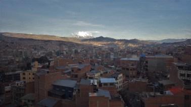 La Paz i planina Illimani