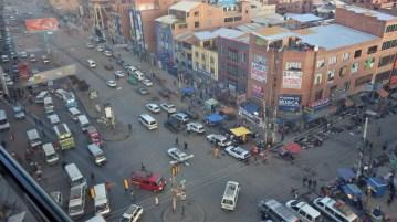 Pogled na kaotične ulice El Alta