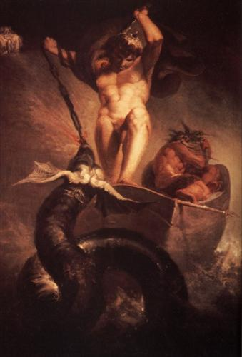 'Thor in the Boat of Hymir' by Henry Fuseli