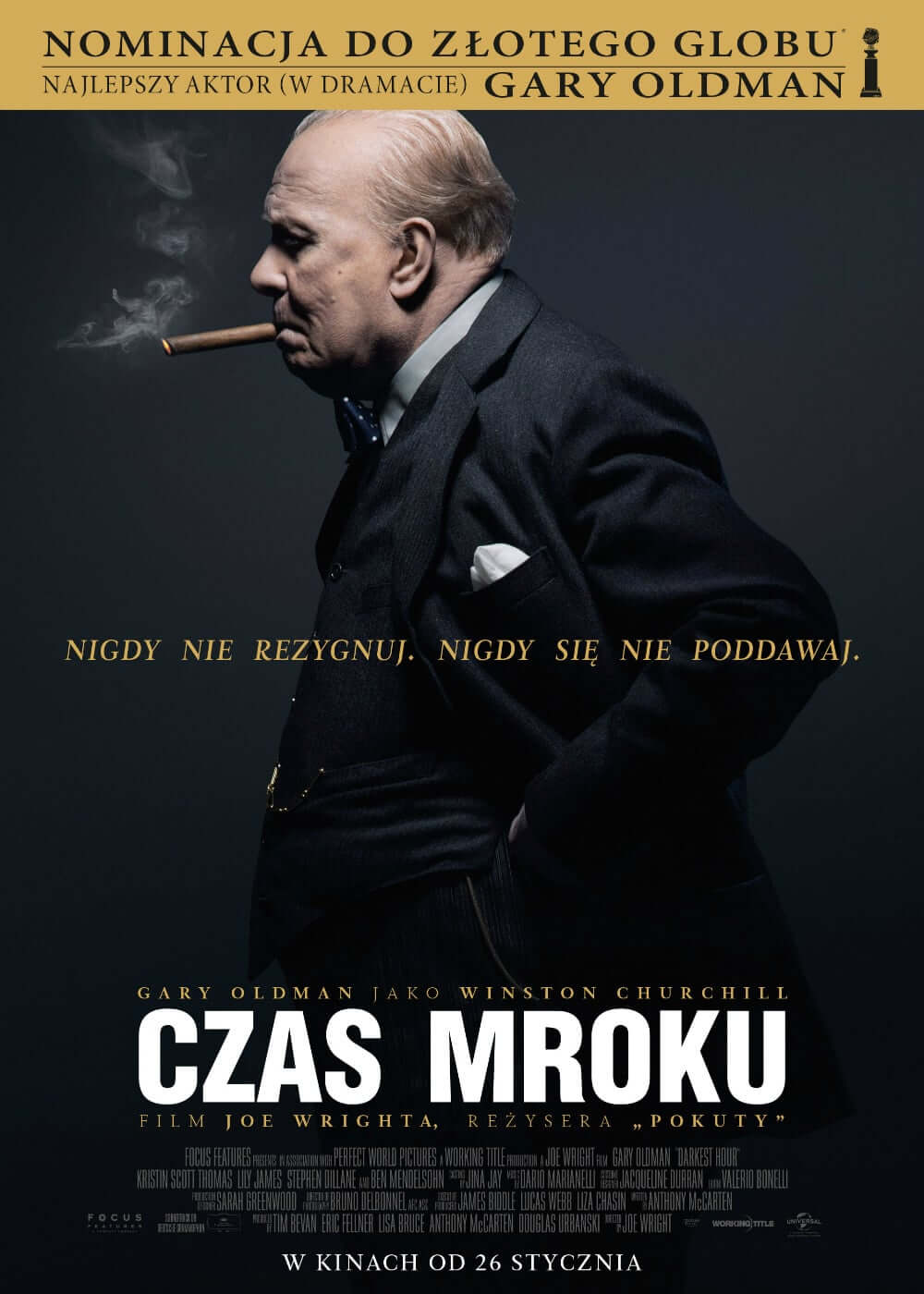 "Poster for the movie ""Czas mroku"""