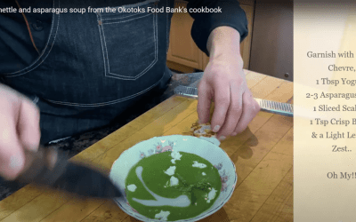 Video: Creamy nettle and asparagus soup from the Okotoks Foodbank's Cookbook
