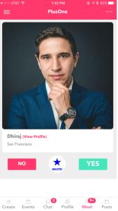 PlusOne Social app