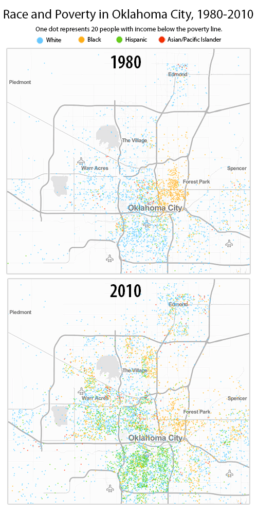 The changing map of poverty and race in Oklahoma - Oklahoma Policy ...