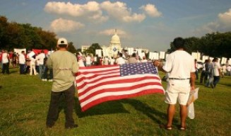 Immigrant Rights Day rally at the US Capitol. Photo by Elvert Barnes.