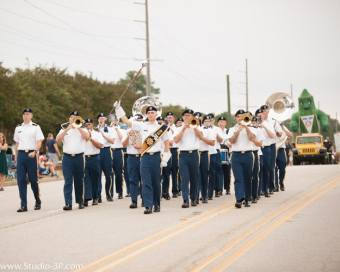 Army Band March In Parade 2017