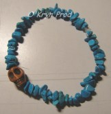 Bracelet amulette turquoise