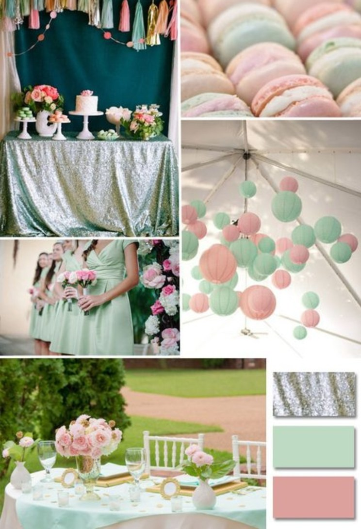 Mint with Blush Pink