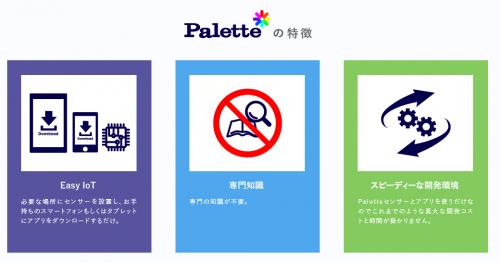 Paletteの特徴(引用:palette公式サイト)