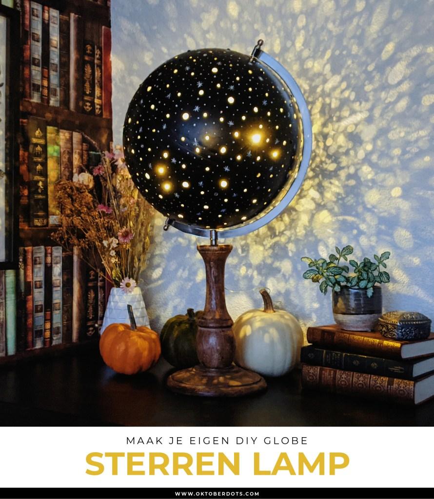 Oktoberdots globe sterren lamp DIY