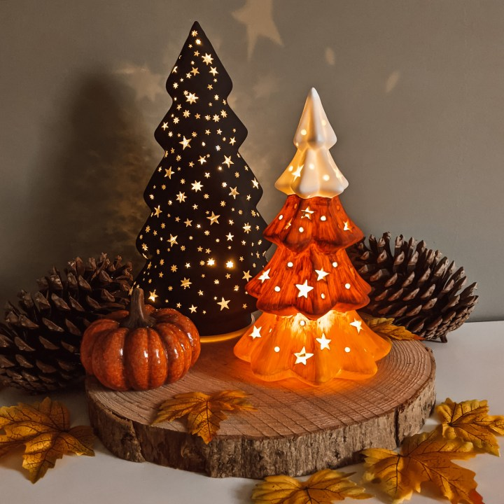 Oktoberdots Halloween-boom lampje DIY