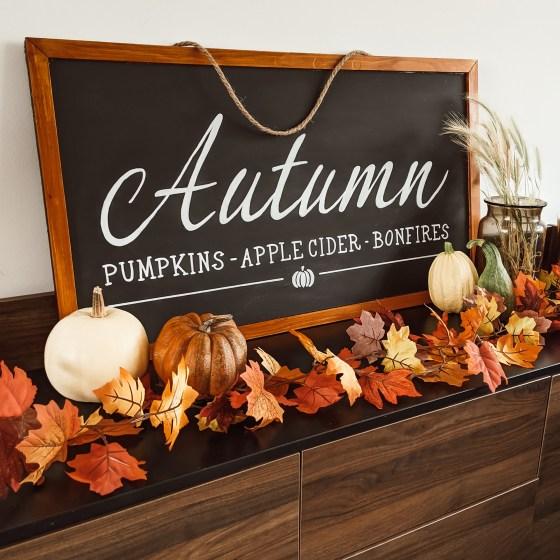 Oktoberdots groot herfst krijtbord maken