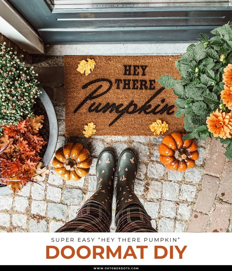 Oktoberdots Autumn Doormat DIY