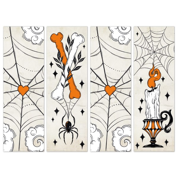 Oktoberdots Vintage Halloween Bookmarks set 2