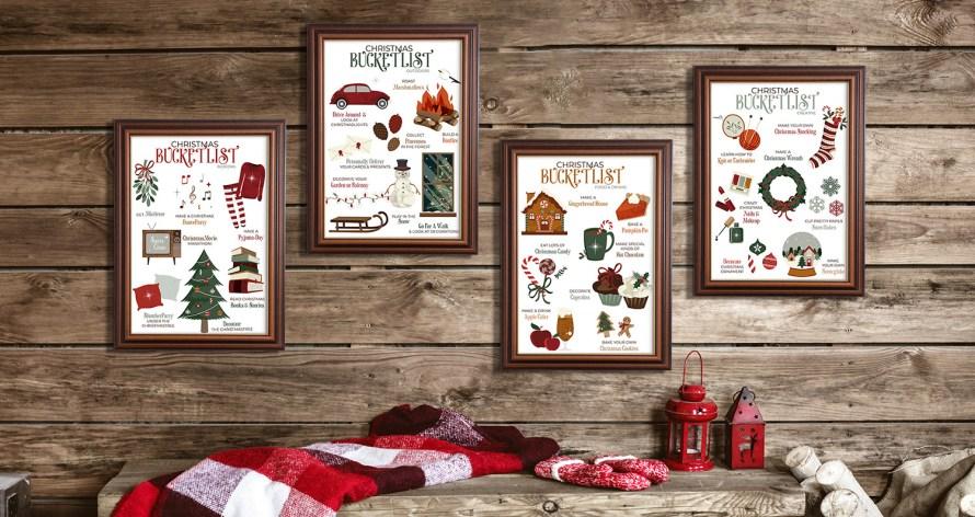 kerst bucketlists A4 formaat