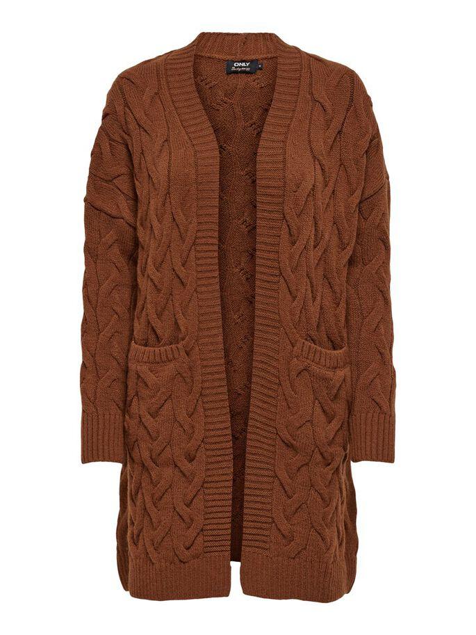oktoberdots cosy cardigans 2020 bruin kabel vest