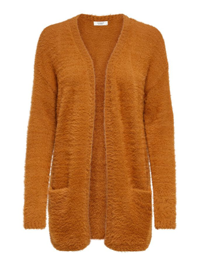 oktoberdots cosy cardigans 2020 fluffy oranje vest