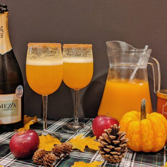 oktoberdots herfst mimosas met pompoen
