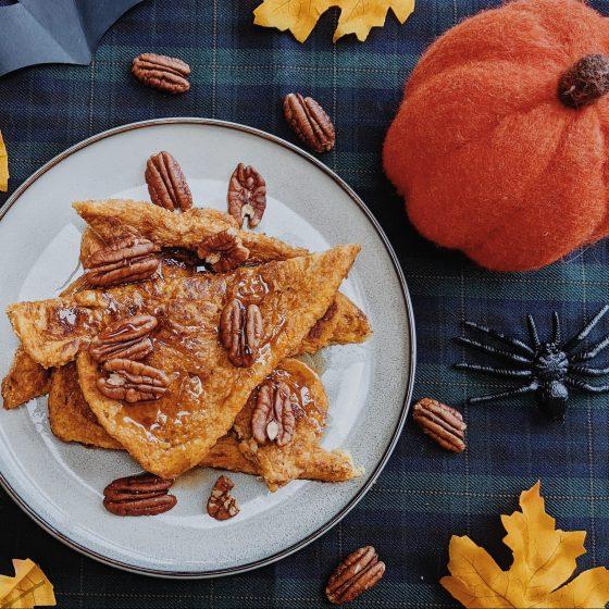 oktoberdots herfst wentelteefjes french toast pompoen