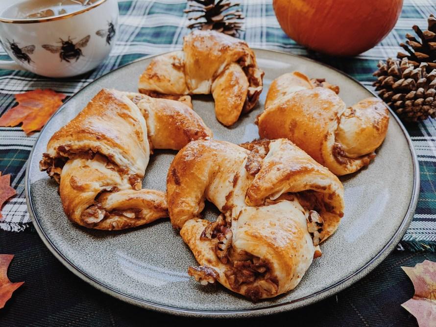 Croissants met pompoen