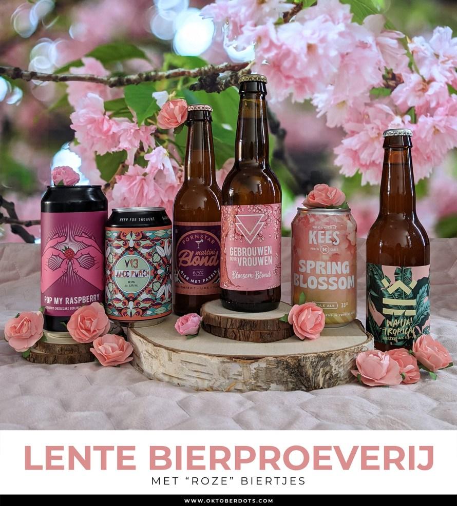 Oktoberdots roze lente bierproeverij