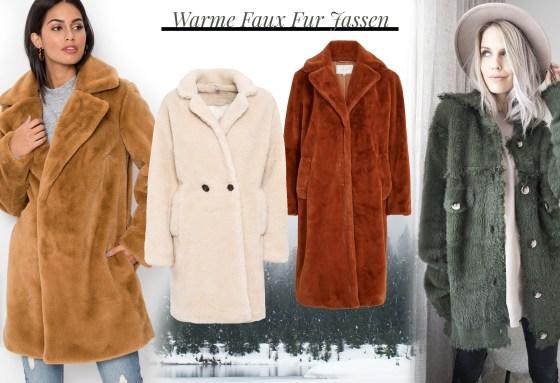oktoberdots warme faux fur jassen