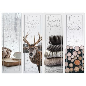 oktoberdots winter quote bookmarks silver