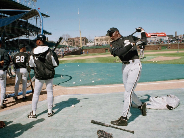 Michael Jordan's baseball days.