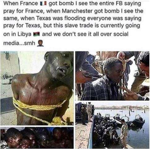 Chris Brown reacts to the Libya slave market news