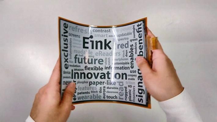 Esnek ve renkli e-ink ekranlar giyilebilir cihazlara gelebilir