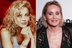Sharon Stone 300x200 - Ünlülerin Genç ve Yaşlı Halleri