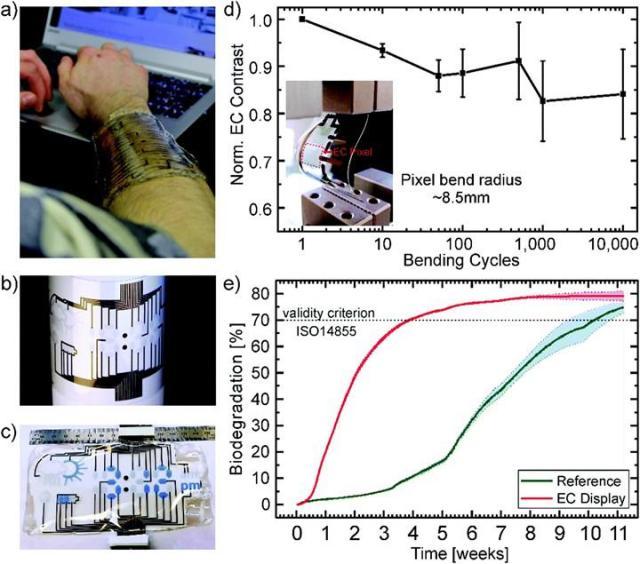 biyolojik olarak bozunabilen elektrokromik ekran gelistirildi 1 BheCnr5I - Biyolojik olarak bozunabilen elektrokromik ekran geliştirildi