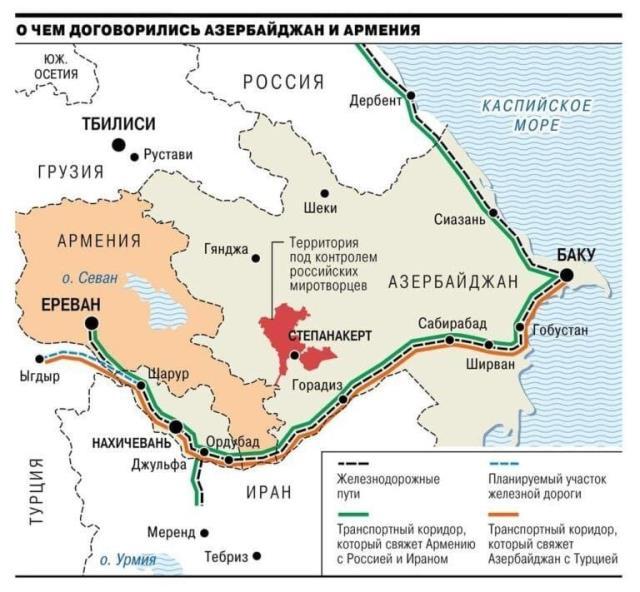 rus basini tarihi daglik karabag haritasini yayinladi azerbaycan ile turkiye dogrudan birbirine baglaniyor 1 3kdsZd7A - Azerbaycan ile Türkiye doğrudan birbirine bağlanıyor