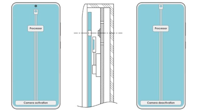 """samsungdan sira disi bir on kameraya gizleme patenti 2 yj98IVFk - Samsung'dan, Sıra Dışı Bir """"Ön Kameraya Gizleme"""" Patenti"""