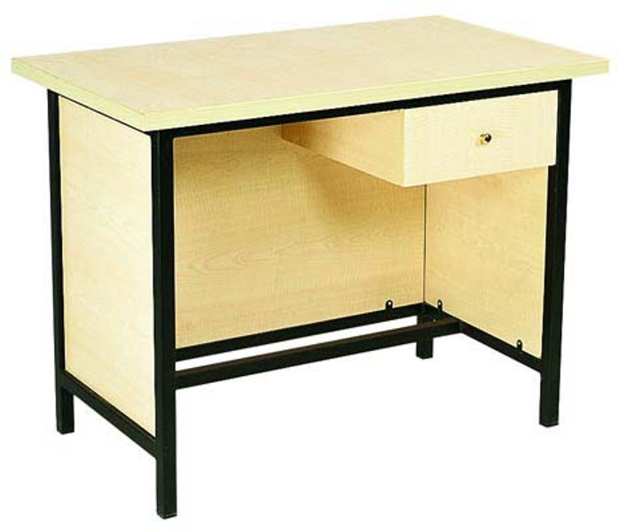Tek çekmeceli suntalem ahşap giydirmeli çalışma masası OMK-04