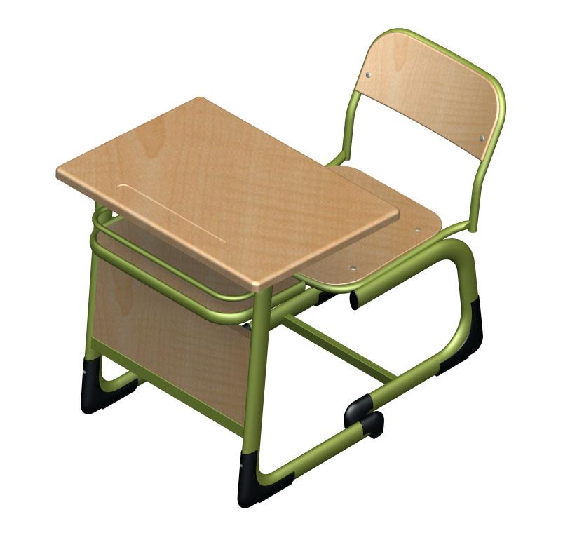 Werzalit Oturaklı Ön Perdeli Okul Sırası-OST-4