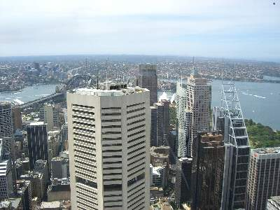 シドニータワーから最初に見える光景