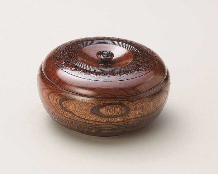 会津塗菓子器