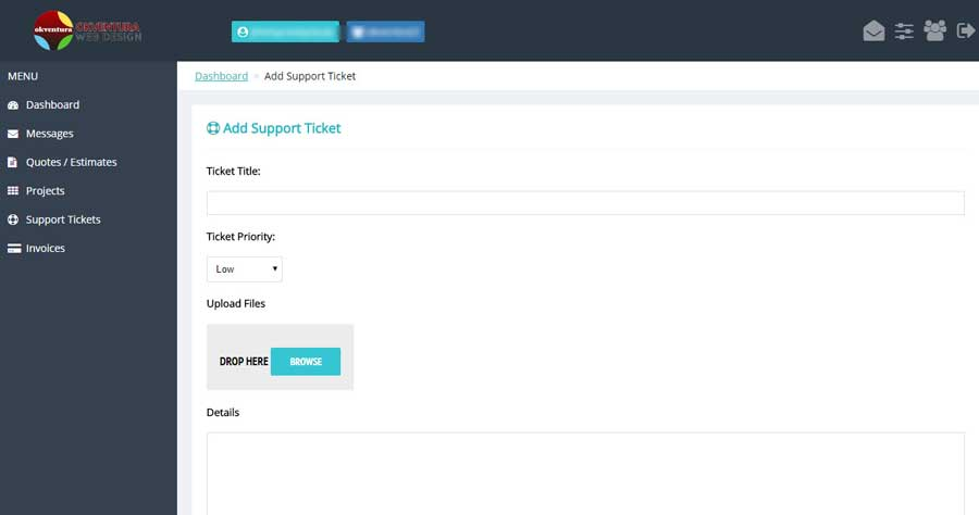 Client-Portal-Dashboard-How-to-Create-Support-Ticket