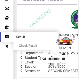 How to check AE-FUNAI semester result