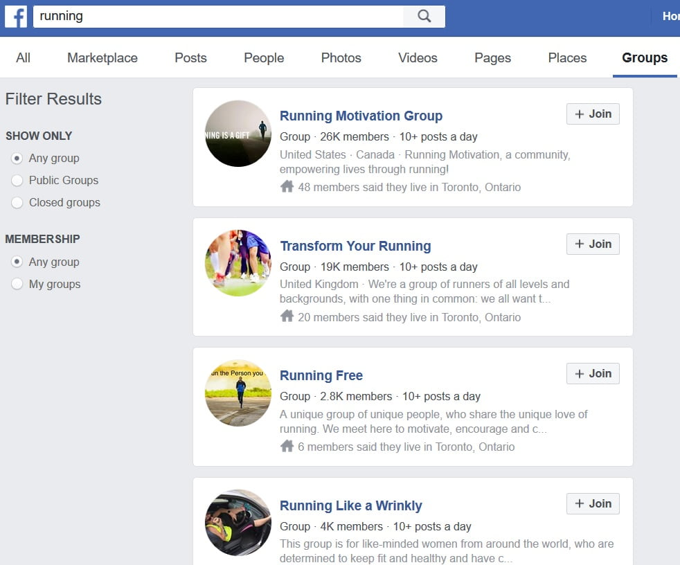 Promote your blog content Facebook